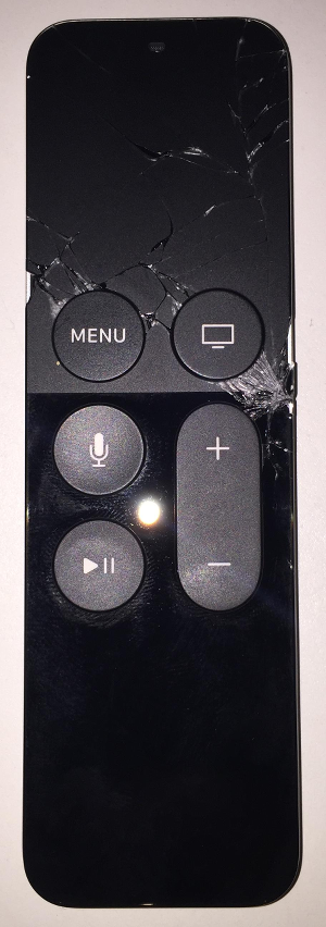 Shattered Apple TV 4 Siri Remote