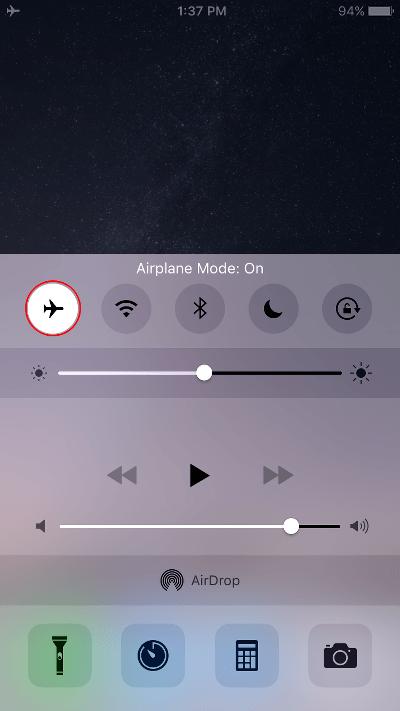 Block Calls on iPhone Airplane Mode