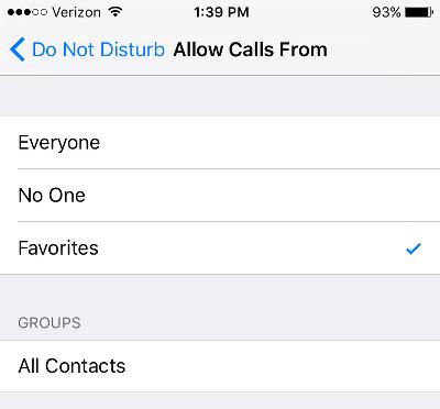 Block Calls on iPhone Allow Certain Calls in Do Not Disturb Mode