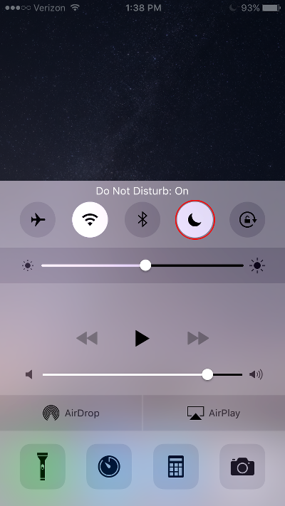 Block Calls on iPhone Turn on Do Not Disturb Mode Using Control Center