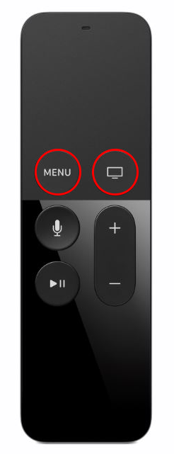 Hold Menu and Home Buttons to Restart Apple TV 4