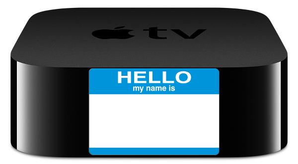 Rename Apple TV 4