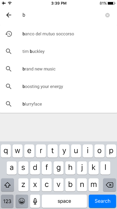 Google Play Music Search