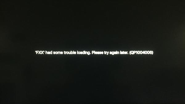 DIRECTV NOW Live TV Error Screen
