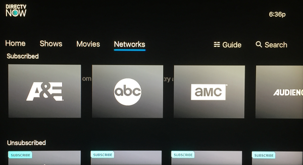 directv now for apple tv page 5 appledystopia rh appledystopia com Samsung Channel Guide Charter Channel Guide