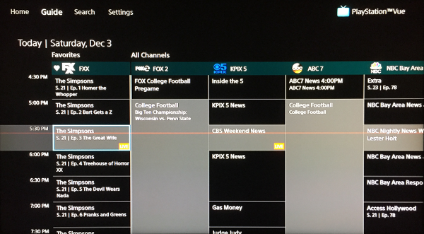 PlayStation Vue Guide