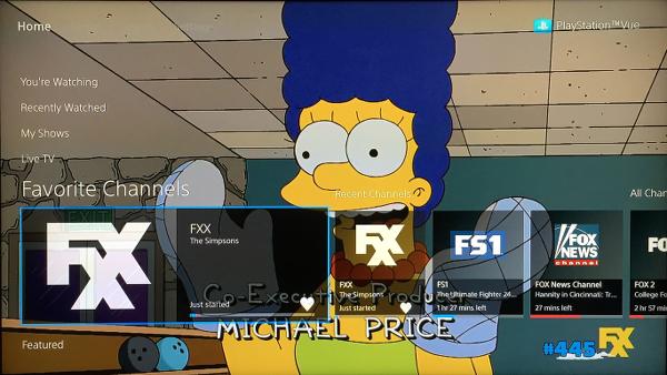 PlayStation Vue Favorite Channels