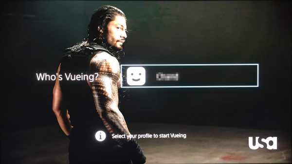 Select PlayStation Vue Profile