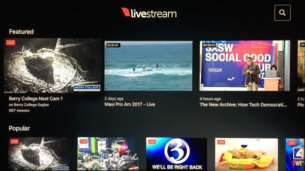 Livestream Apple TV App