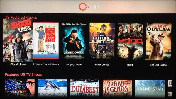 OVGuide Apple TV App