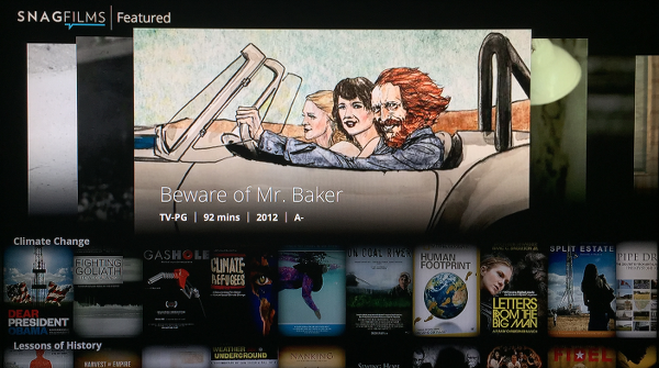 Snagfilms Apple TV App
