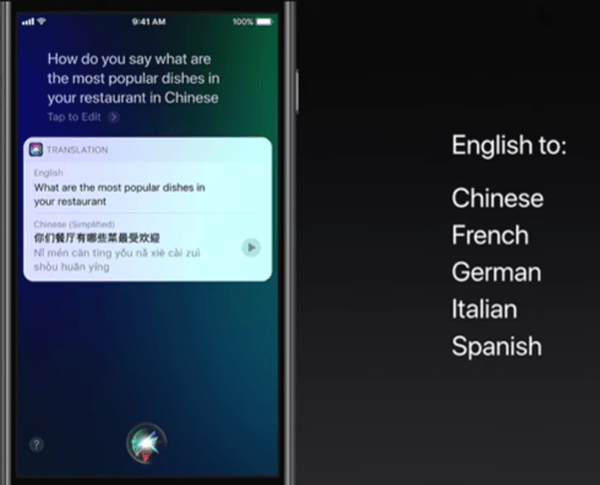 Siri Translation