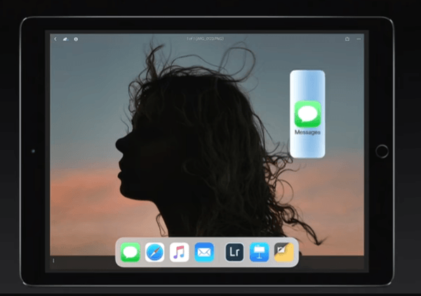 iOS 11 Dock to Split View Multitasking Step 1