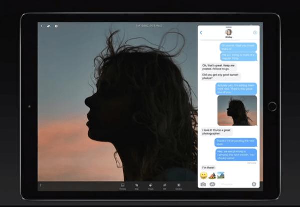 iOS 11 Dock to Split View Multitasking Step 2