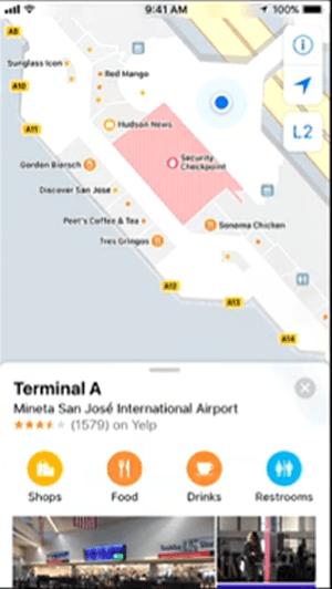 iOS 11 Airport Maps