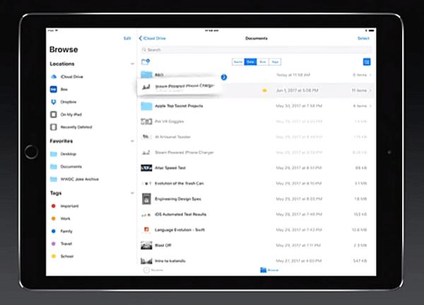 iOS 11 Drag and Drop Files