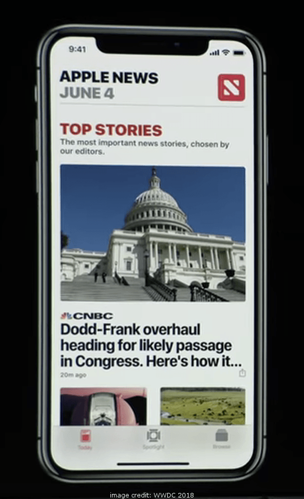 iOS 12 Apple News Top Stories