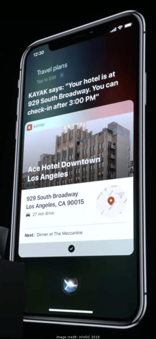 iOS 12 Siri Shortcuts Kayak