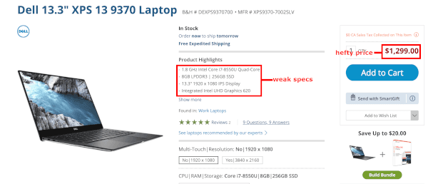 Dell XPS Is Expensive