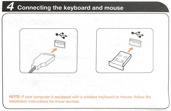 Lenovo Vague Keyboard and Mouse Instructions
