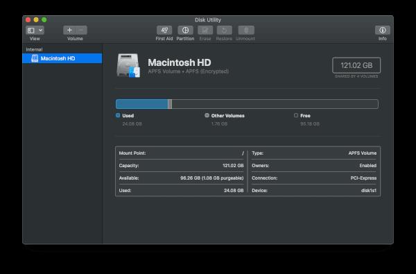 MacBook Pro Storage Space