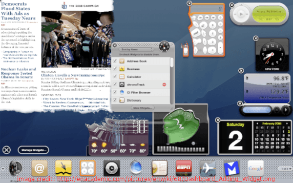 OS X Tiger Dashboard Widgets