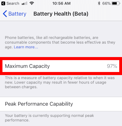 Four Year Old iPhone 6 with 97 Percent Battery Health