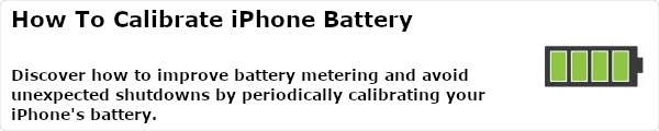 Discover how to improve battery metering and avoid unexpected shutdowns by periodically calibrating your iPhone's battery