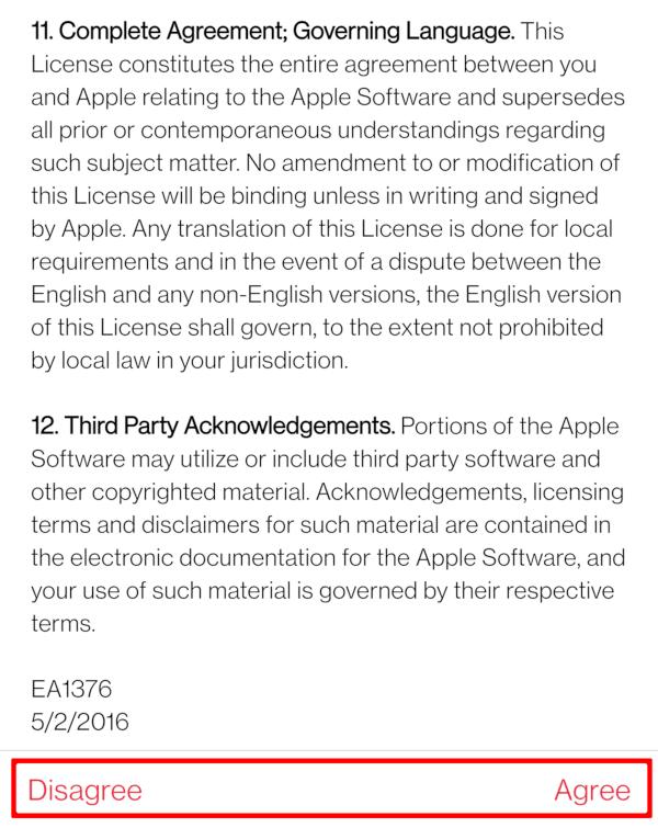 Apple Music Legal Agreement