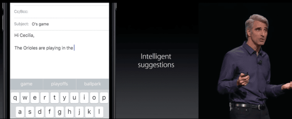 iOS 10 QuickType Keyboard with Siri