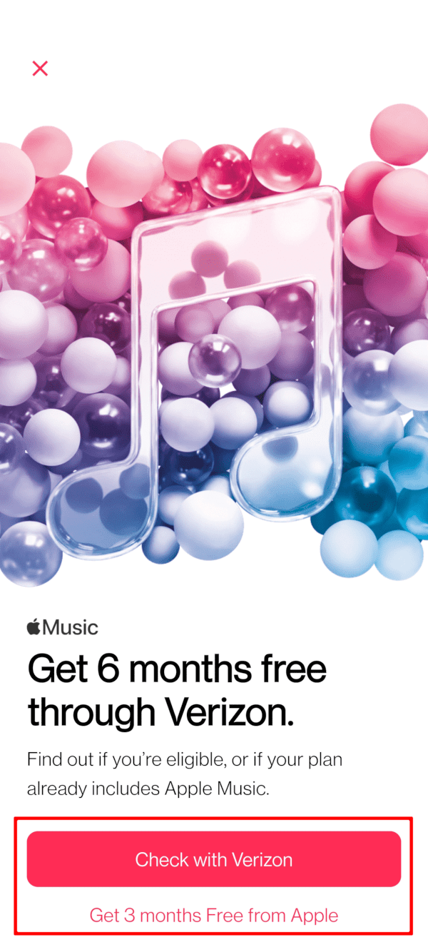 Verizon Six Months Free Apple Music